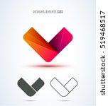 v company vector logo sign and... | Shutterstock .eps vector #519468517