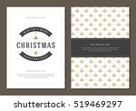 christmas greeting card or... | Shutterstock .eps vector #519469297