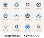 geometric logo template set....   Shutterstock .eps vector #519469777