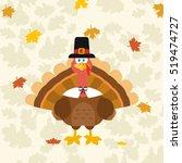 thanksgiving turkey bird... | Shutterstock .eps vector #519474727