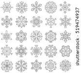 vector snowflake set in... | Shutterstock .eps vector #519474937
