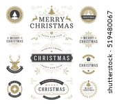 christmas labels and badges... | Shutterstock .eps vector #519480067