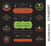 christmas labels and badges... | Shutterstock .eps vector #519480097