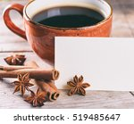 good morning concept. a cup of... | Shutterstock . vector #519485647