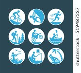 recreation icons set. | Shutterstock .eps vector #519487237