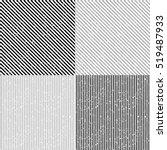 set grunge stripe. grunge... | Shutterstock .eps vector #519487933