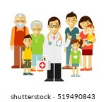 family doctor concept with... | Shutterstock .eps vector #519490843