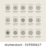 yoga ornamental emblem set.... | Shutterstock .eps vector #519500617