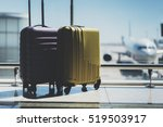 two suitcases in the airport... | Shutterstock . vector #519503917