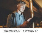 young hipster guy checking his... | Shutterstock . vector #519503947