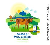 natural dairy products quality... | Shutterstock . vector #519506563