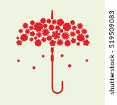 umbrella flowers icon vector... | Shutterstock .eps vector #519509083