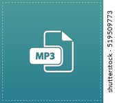 mp3 audio file extension. white ... | Shutterstock .eps vector #519509773