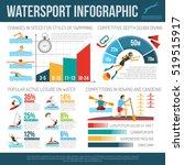 water sport infographcis flat... | Shutterstock . vector #519515917