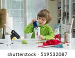 little boy being creative... | Shutterstock . vector #519532087