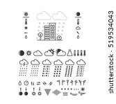 mega pack of weather icons with ... | Shutterstock .eps vector #519534043