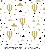 air balloons. seamless pattern... | Shutterstock .eps vector #519536257