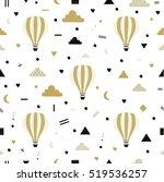 air balloons. seamless pattern...   Shutterstock .eps vector #519536257