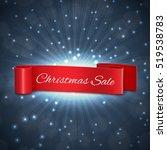 christmas sale ribbon. eps10...
