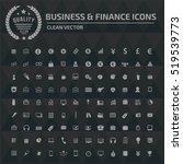 business and finance icon set  ... | Shutterstock .eps vector #519539773