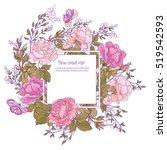 rose flower background. good... | Shutterstock .eps vector #519542593