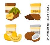 illustration with cartoon nut... | Shutterstock . vector #519544657