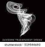 smoke smooth light lines vector ... | Shutterstock .eps vector #519544693