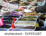Different Types Of Olives At A...
