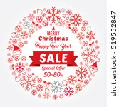 christmas and new year sale...   Shutterstock .eps vector #519552847