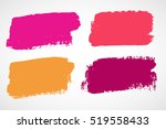set of ink vector stains | Shutterstock .eps vector #519558433