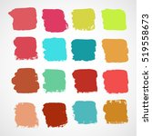 set of ink vector stains | Shutterstock .eps vector #519558673