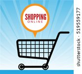 comment bubble with cart vector ... | Shutterstock .eps vector #519559177