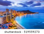 Honolulu  Hawaii. Skyline Of...