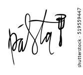 pasta hand lettering logo... | Shutterstock .eps vector #519559447