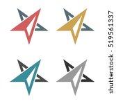 abstract arrow star compass... | Shutterstock .eps vector #519561337
