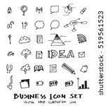 business doodles sketch vector... | Shutterstock .eps vector #519561523
