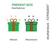 present box flat icon and flat...   Shutterstock .eps vector #519563047