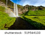 seljalandsfoss one of the most... | Shutterstock . vector #519564133