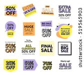 set of flat design sale... | Shutterstock .eps vector #519565903