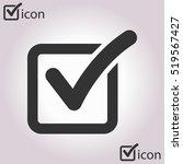 check list button icon. check... | Shutterstock .eps vector #519567427
