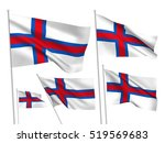 faroe islands vector flags set. ... | Shutterstock .eps vector #519569683