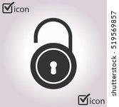 unlock icon. flat design style. ... | Shutterstock .eps vector #519569857