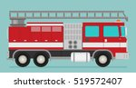 fire truck rescue engine... | Shutterstock .eps vector #519572407