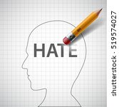 pencil erases in the human head ... | Shutterstock .eps vector #519574027