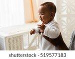 adorable little african... | Shutterstock . vector #519577183