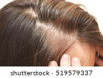 close up portrait of the hair... | Shutterstock . vector #519579337