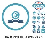 euro award ribbon icon with... | Shutterstock . vector #519579637