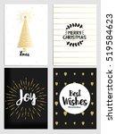 trendy christmas design set.... | Shutterstock .eps vector #519584623