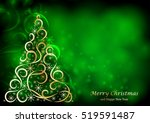 abstract floral christmas tree... | Shutterstock . vector #519591487