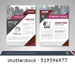 purple annual report brochure... | Shutterstock .eps vector #519596977